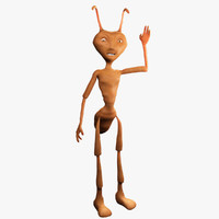3d model of cartoon ant rigging character