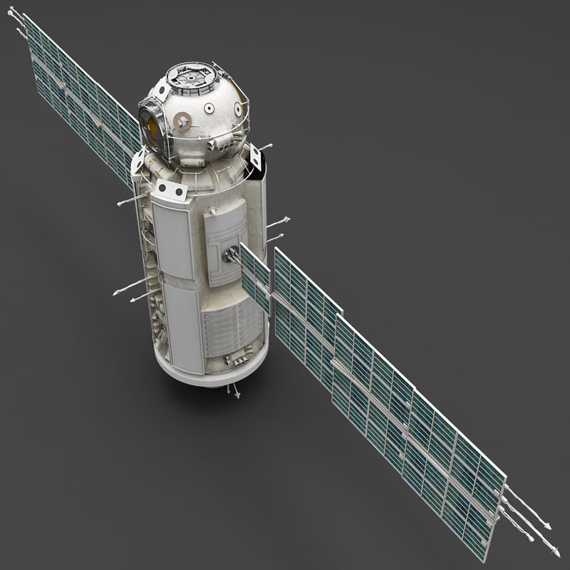 space functional cargo block 3d model