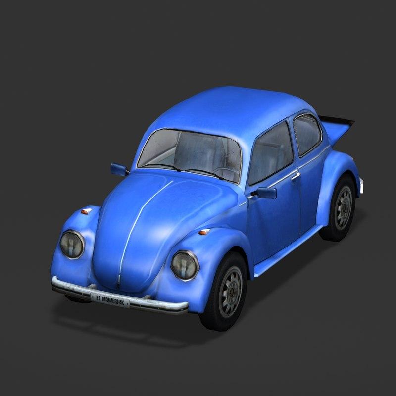 volkswagen beetle bug 3d 3ds