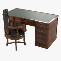 Armando Rho A 259 English Desk  & A 88 Chair Set