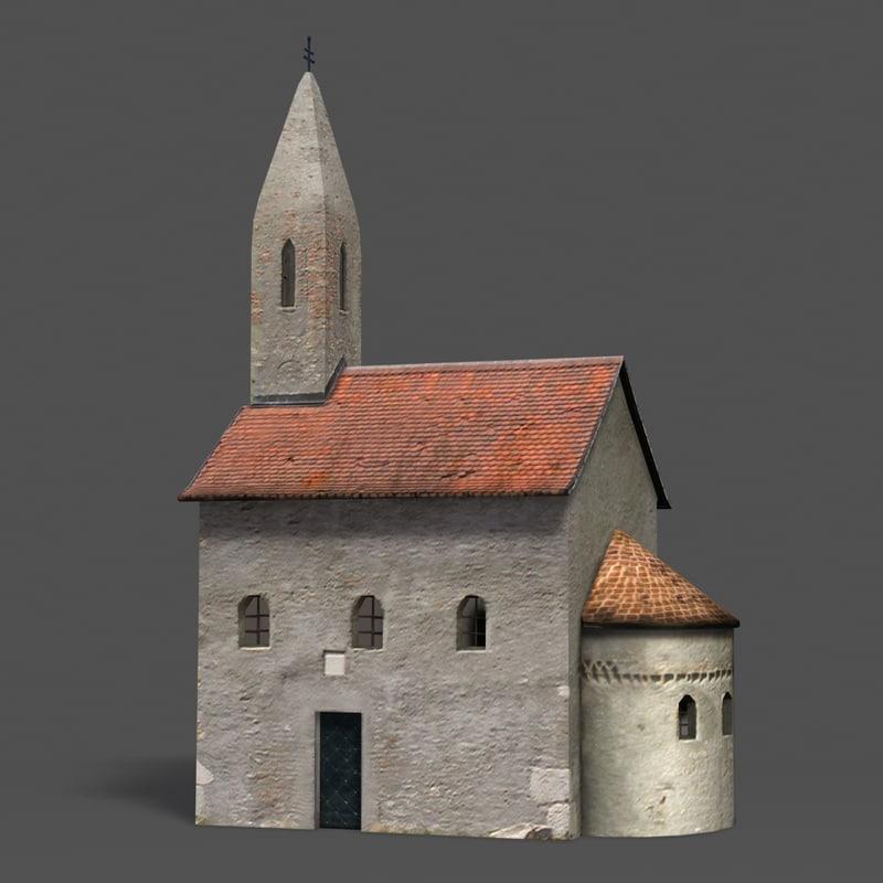 3d model church slovakia nitra