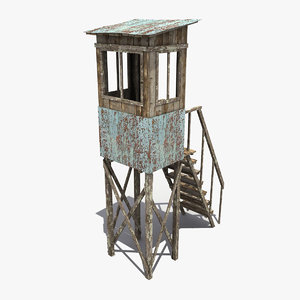 guard tower 3d ma
