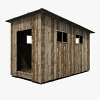 Old Small Wooden Shed