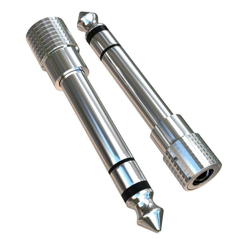 3d model jack connector