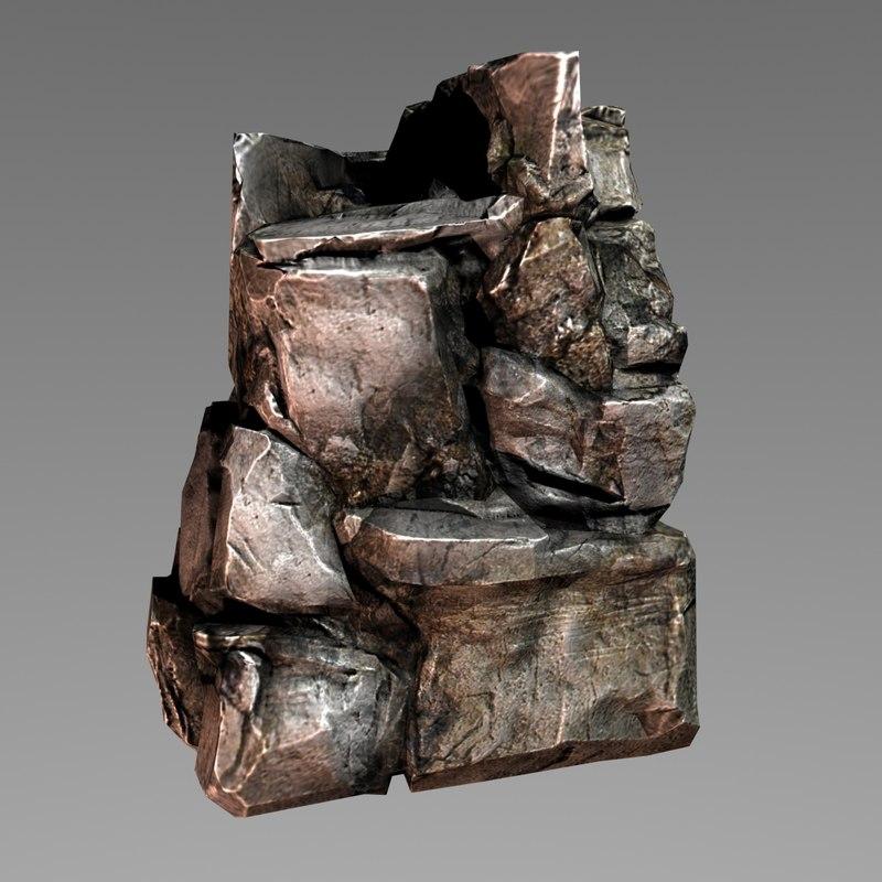 3d rock formation model