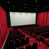 3d model of movie theater