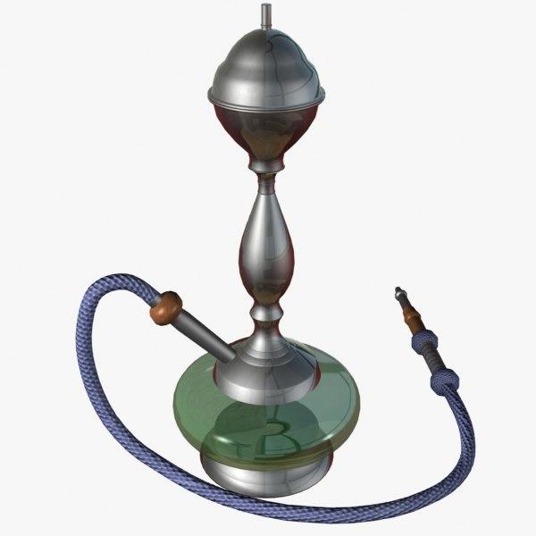 3d model waterpipe hookah