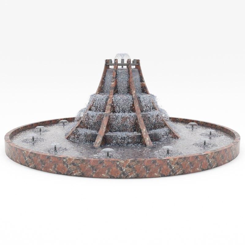 3d fountain 1 model