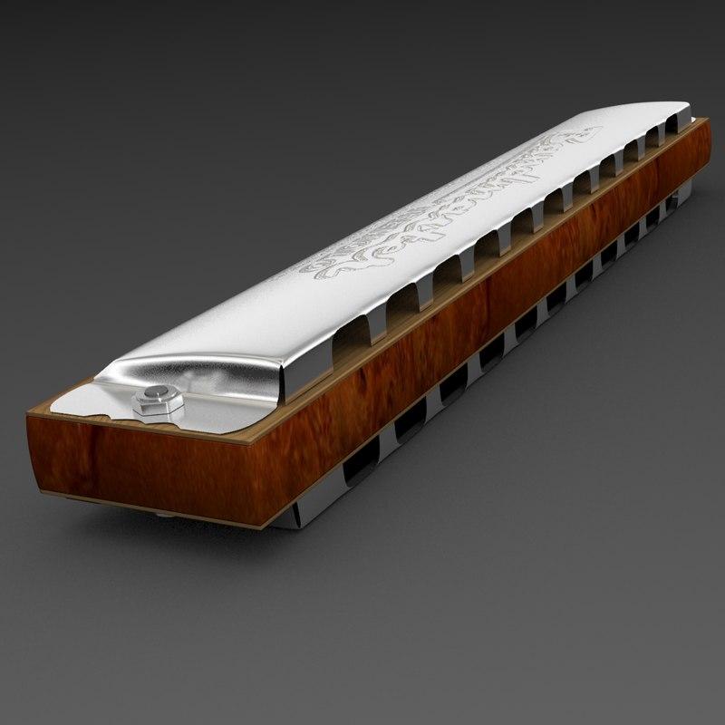 3d tremolo harmonica