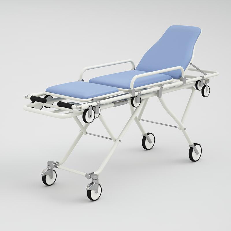 medical stretcher 3d 3ds