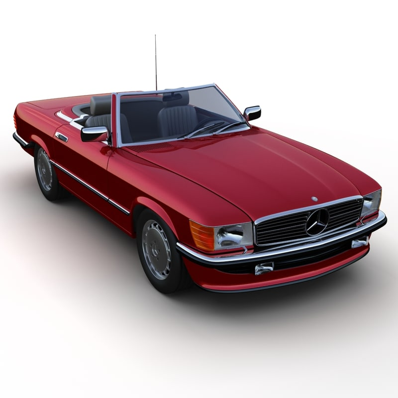 mercedes-benz 350sl roadster 3d 3ds