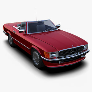 mercedes-benz 350sl roadster 3d 3ds