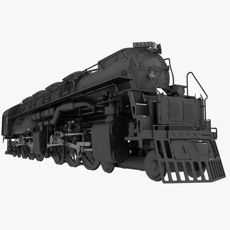 3d 3985 challenger locomotive model
