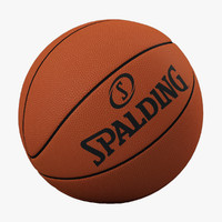3d model basketball ball basket