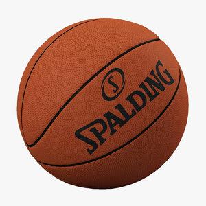3d model basketball ball basket