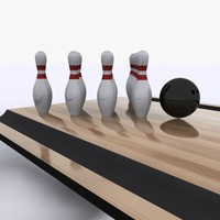 3d model bowling pins ball