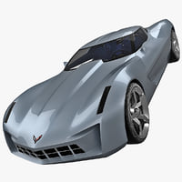 obj corvette stingray concept car
