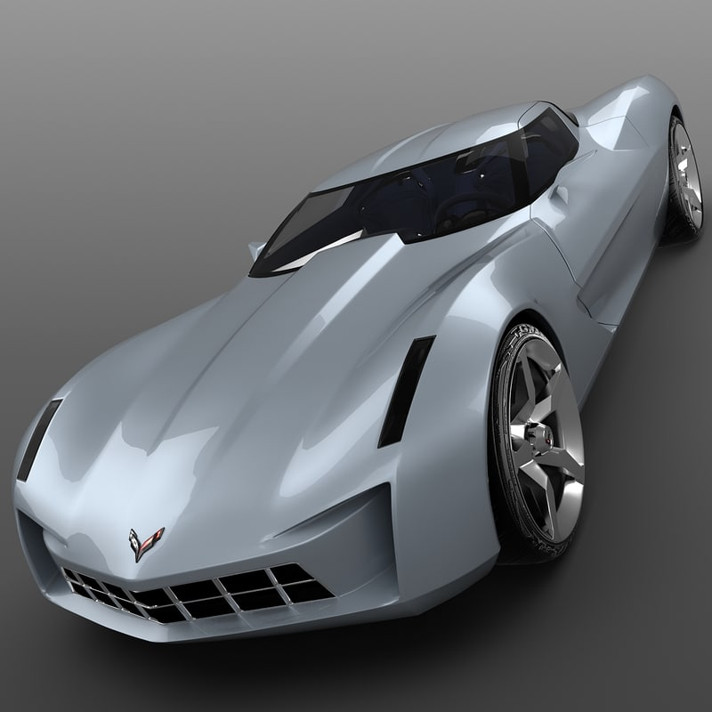obj corvette stingray concept car