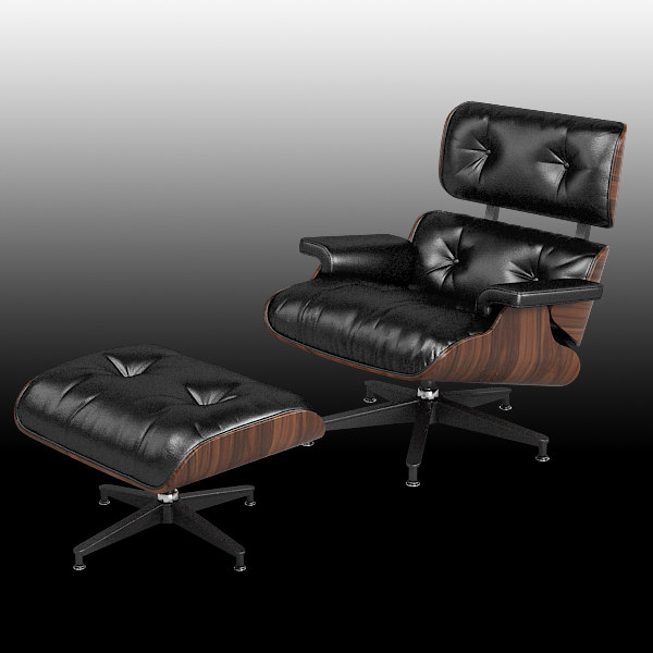 eames lounge chair 3d model