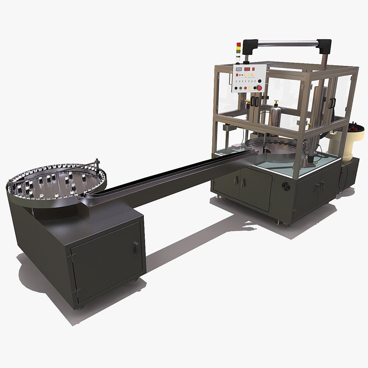 3d model of factory machine line