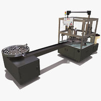 3d model of factory machine line