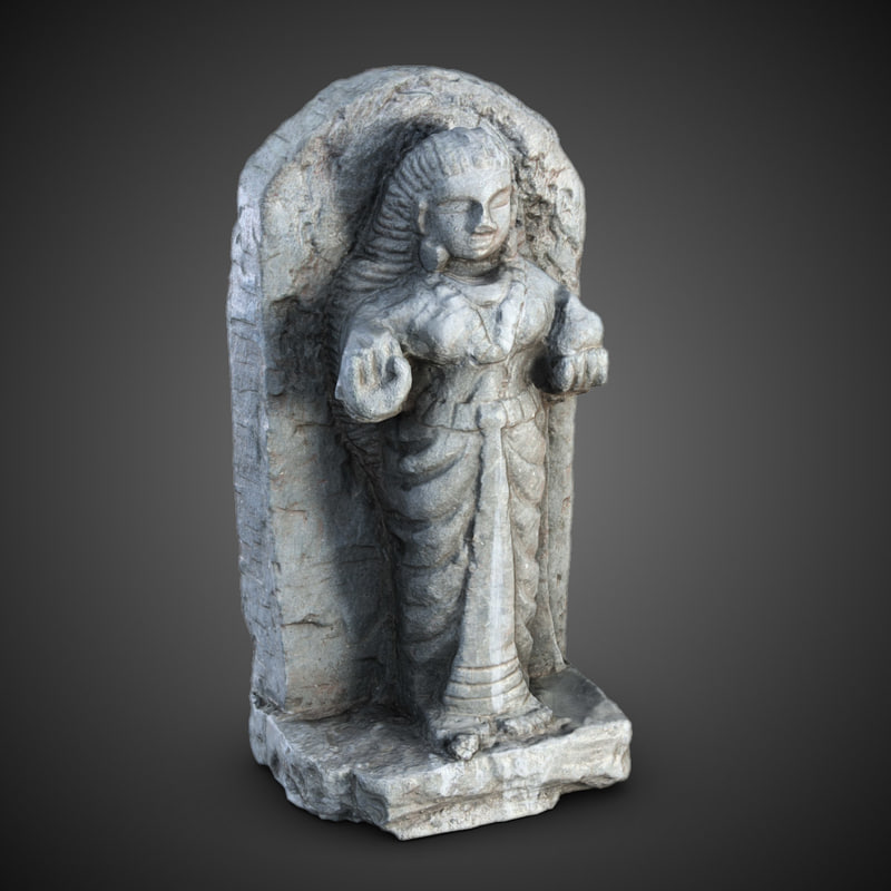 3dsmax indian statuette india