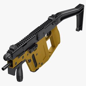 kriss super v submachine gun 3d model