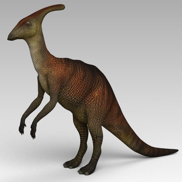 3d parasaurolophus model