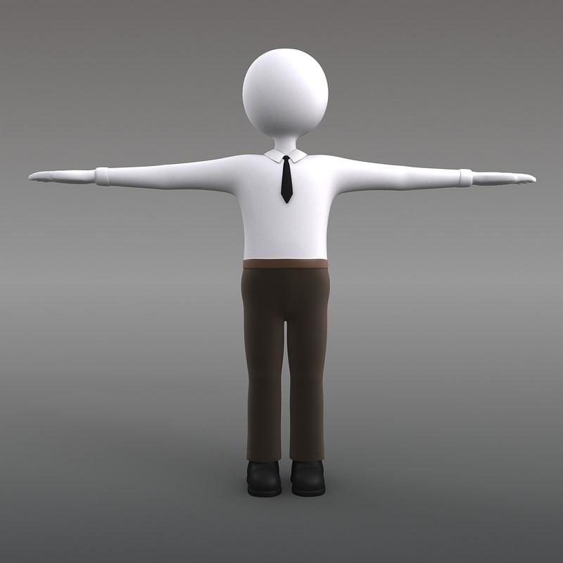 3d model office figure