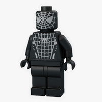 lego man spider 3d model