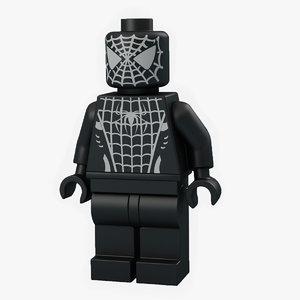 lego man spider 3d model