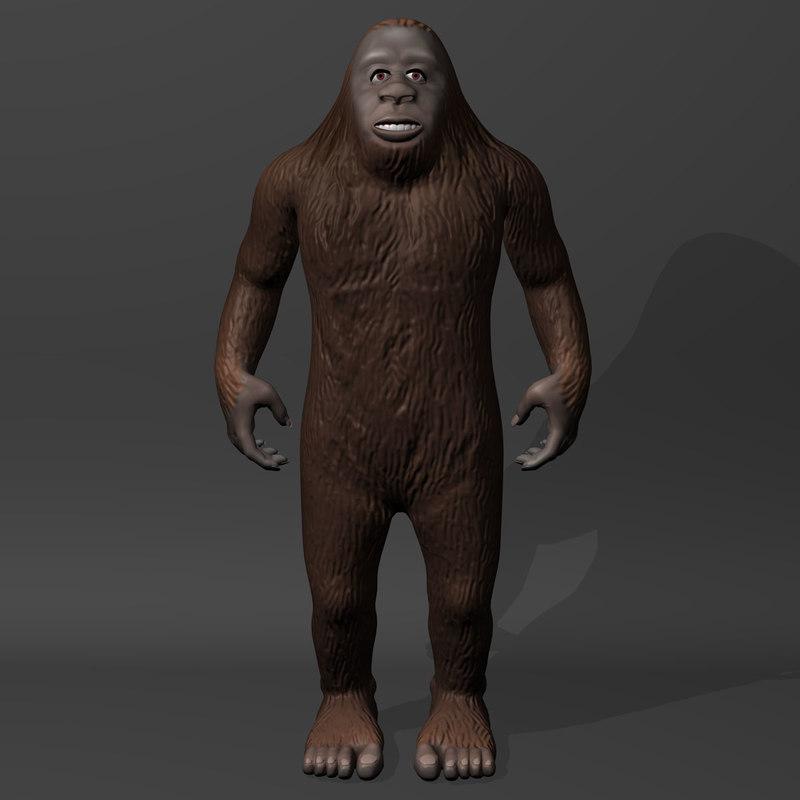 3d model bigfoot big foot
