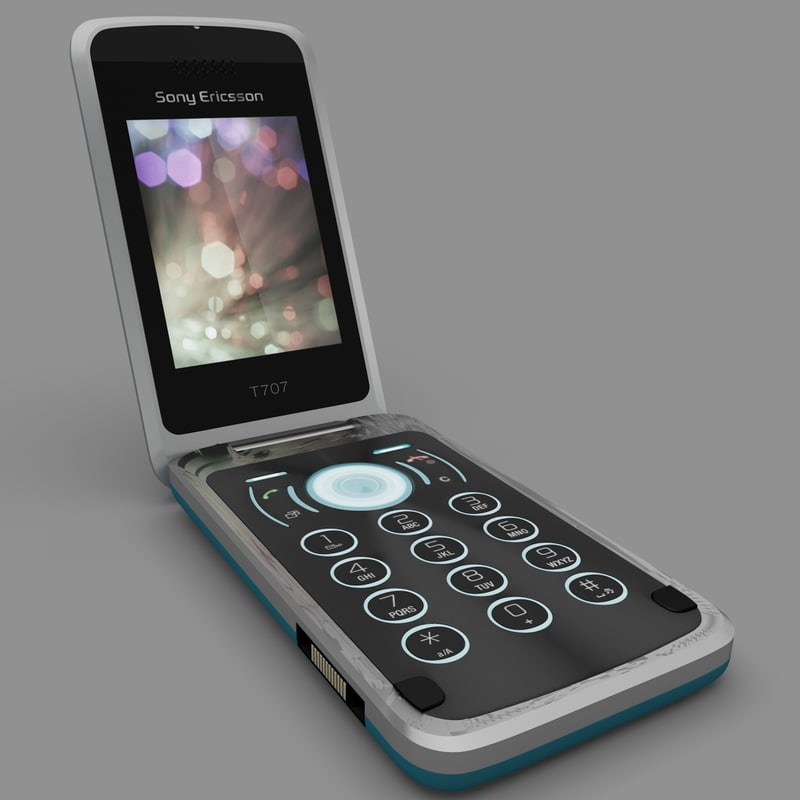 sony ericsson t707 3d model