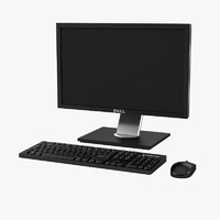 Dell LCD Monitor, Keyboard & Mouse Set