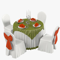 3d restaurant wedding table