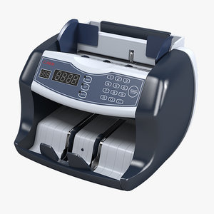 3d model currency money counter c-600