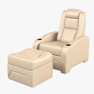 hts elite armchair ottoman 3d model