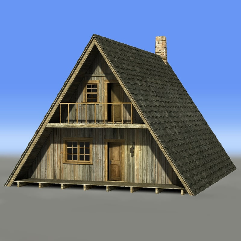 A frame house 3d obj for A frame style house