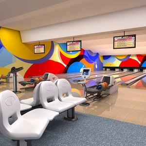 bowling club interior 3d max