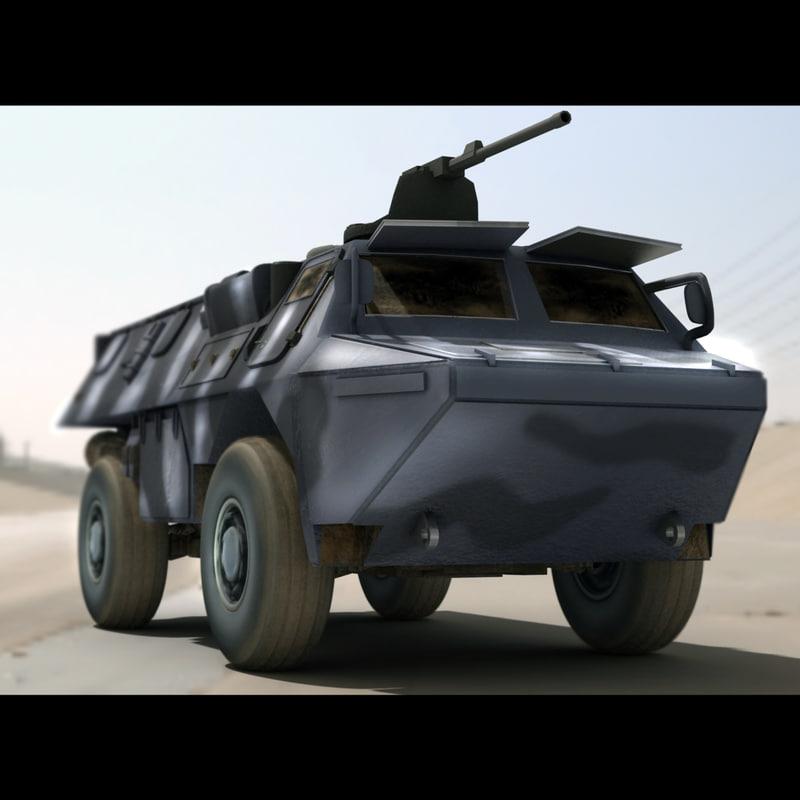 3d model asv military transport