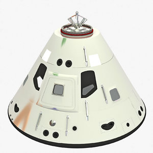 3d apollo command module model
