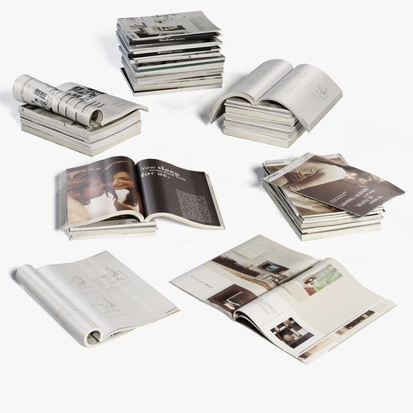 magazines decorating 3d max