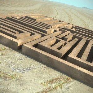 labyrinth desert scene maze max