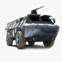3d model asv military transport