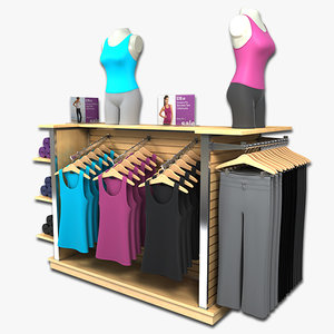 womens tank yoga pants 3d model