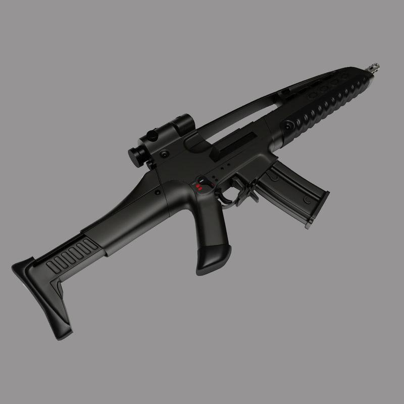3ds max assault rifle xm viii