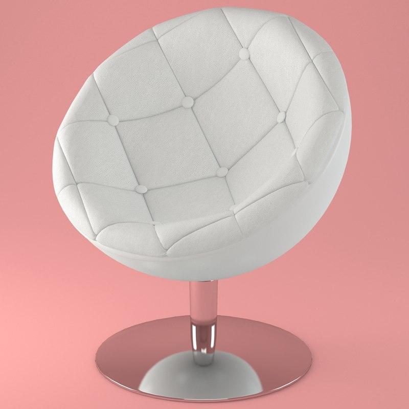 3d halfmoon armchair