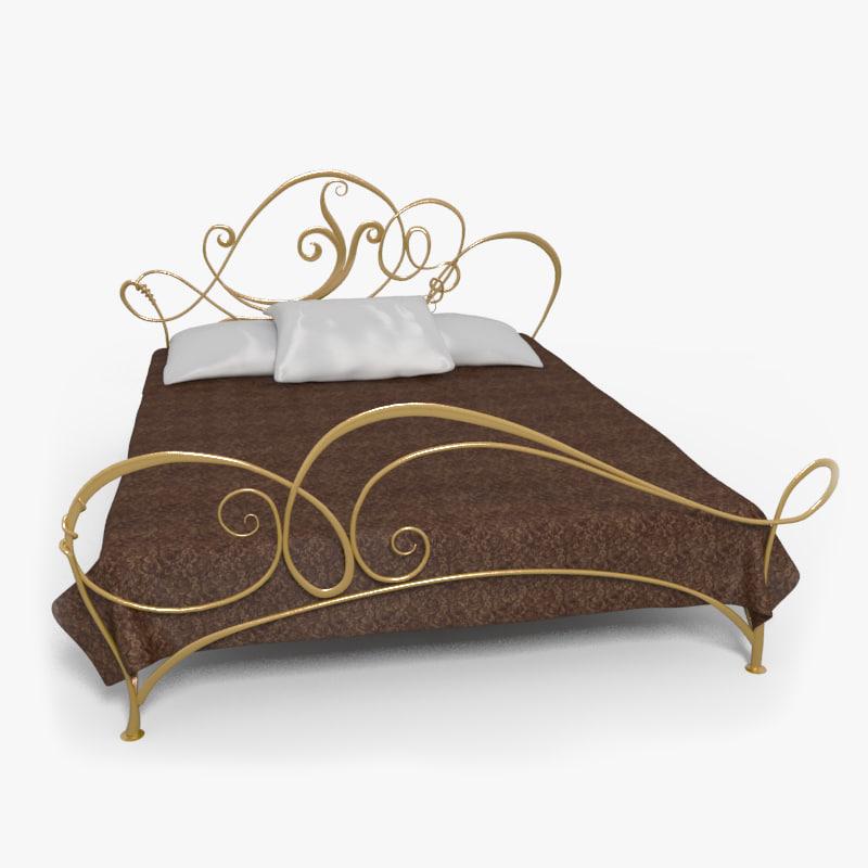 bed iron 3d model
