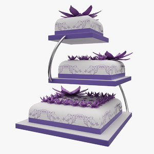 3ds max purple wedding cake