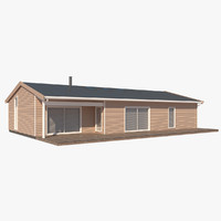 3d model realistic house lux nb